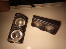"""Set dubbele koplampen Citroën BX """"Morrette"""" (opknappers)"""