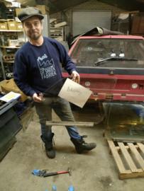 Citroen BX portier ruit voor links brons getint glas bestuurdersraam (gebruikt)