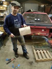 Citroen BX portier ruit voor rechts brons getint glas bestuurdersraam (gebruikt)