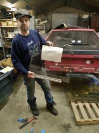 Citroen BX portier ruit achter rechts brons getint glas bestuurdersraam (gebruikt)