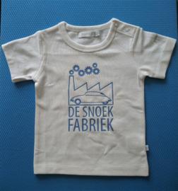 """BABY T-shirt """"de snoekfabriek"""" blue camargue print"""