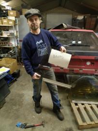 Citroen BX portier ruit achter links brons getint glas bestuurdersraam (gebruikt)