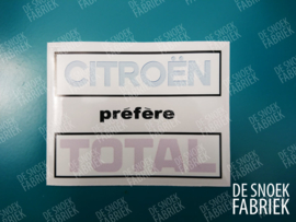 Citroen prefere TOTAL / square / transparant / inside window