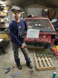 Citroen BX portier ruit achter links groen glas bestuurdersraam (gebruikt)