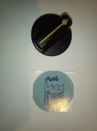 knop bediening kachel gebruikt zwart