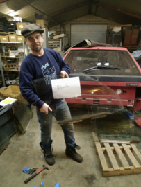 Citroen BX portier ruit voor rechts blank glas bestuurdersraam (gebruikt)