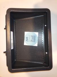 Handschoenkast ; Bakje waar het klokje in zit zwart (gebruikt)