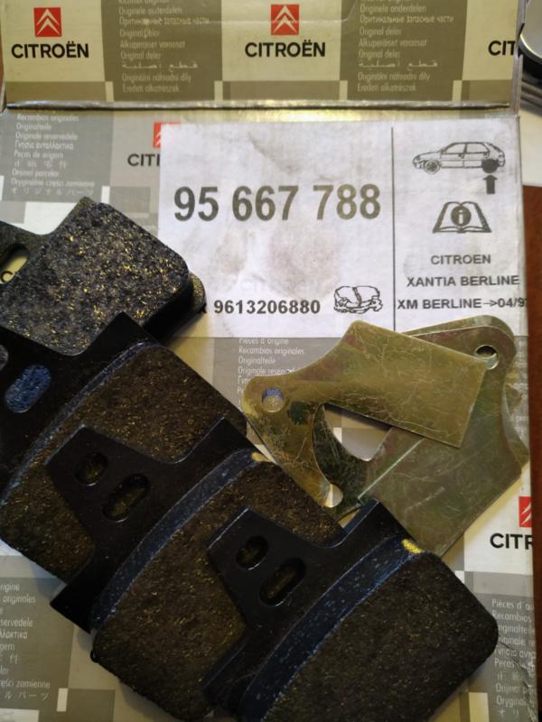 XANTIA / XM BERLINE ACHTERREMBLOKKENSET (4)  95667788