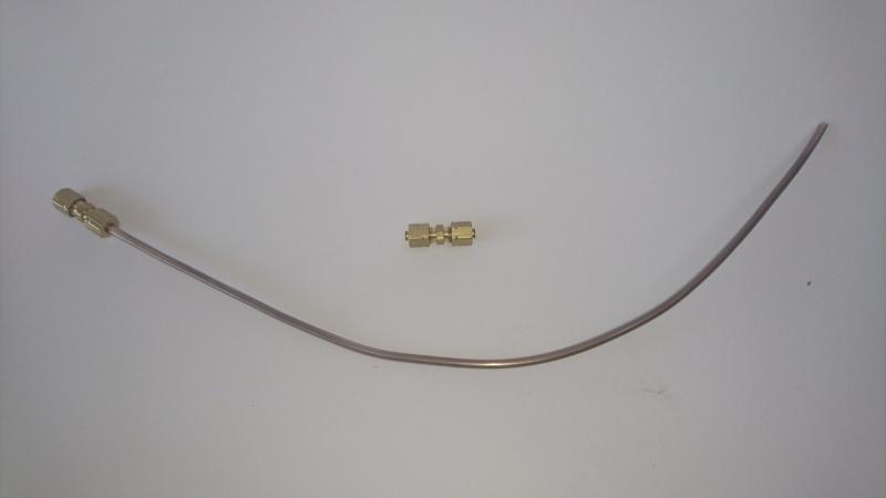 noodreparatie setje 4.5 mm; leiding (30 cm.) 2 x snelkoppeling