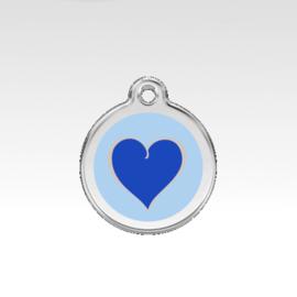 Penning: Gekleurd Hart - Blauw