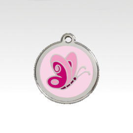 Penning: Vlinder- Roze