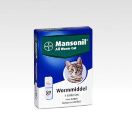 Mansonil All Worm Cat 4 tabletten