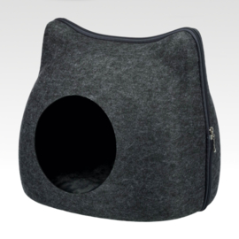 Anthracite  Felt Cat Head