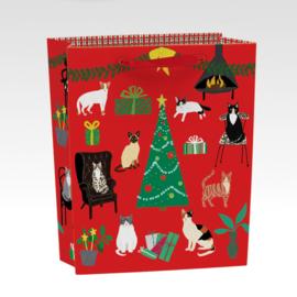 Cat Xmas Gift Bag