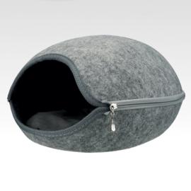 Grey Felt Egg Cave