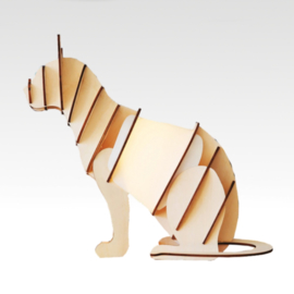 Timber Cat Lamp