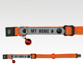 Collar Address Tag Glow-Orange