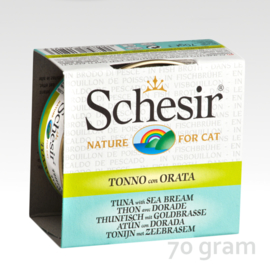 Schesir Broth Tuna & Sea Bream
