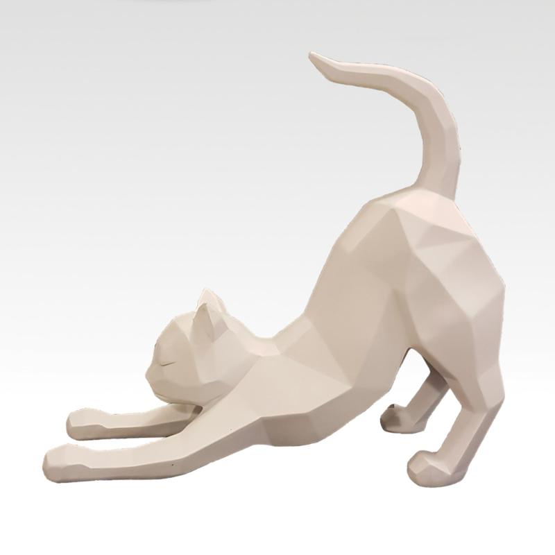 Origami Cat Stretching