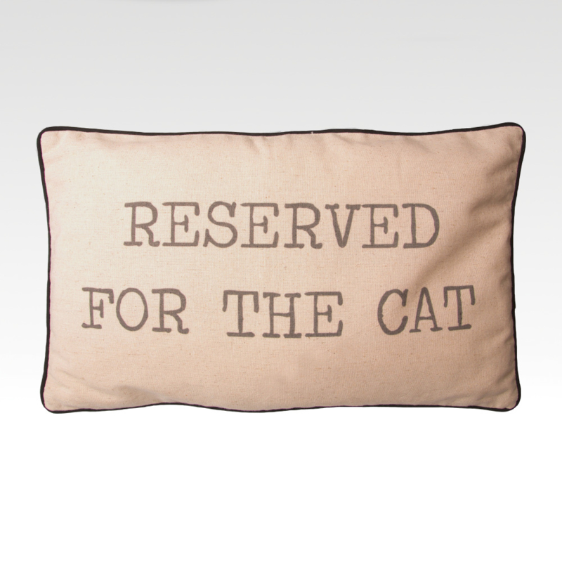 Reserved for the Cat Kussen
