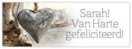 Sarah Van Harte gefeliciteerd!