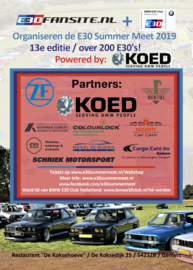 E30 Summer Meet Flyers