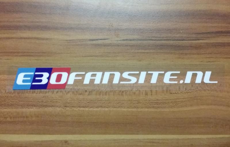 E30Fansite.nl Ruitsticker