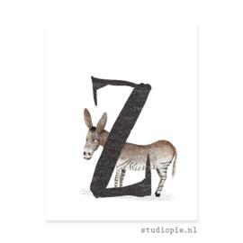 de Z van ZEZEL | letterkaartje