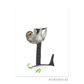 de L van LUIAARD | letterkaartje