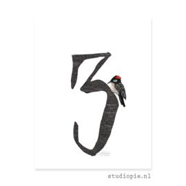 cijfer 3  | cijferkaartje