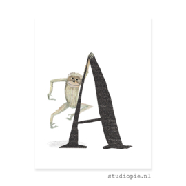 de A van AAP | letterkaartje