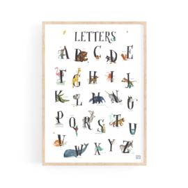 set van 2 posters cijfers en letters