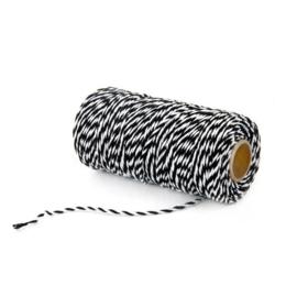 zwart wit touw p. meter