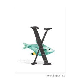 de X van X-RAY VIS | letterkaartje