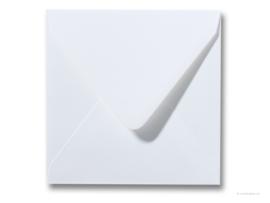 witte envelop  14 x 14 cm.