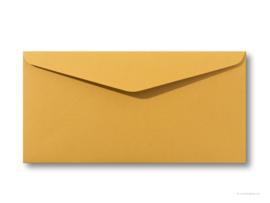 vintage oker envelop  22 x 11 cm