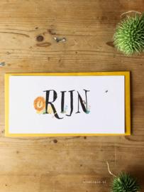 Geboortekaartje Rijn! Jungle kaartje met een leeuw