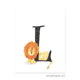 de L van LEEUW | letterkaartje