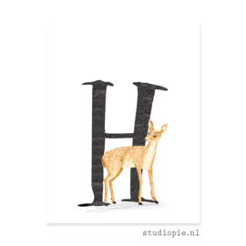 de H van HERT | letterkaartje