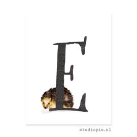 de E van EGEL | letterkaartje