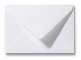 witte envelop A6 formaat, 11 x 15,6 cm.