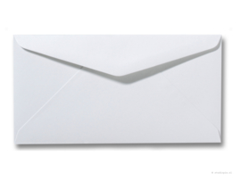 witte envelop  22 x 11 cm