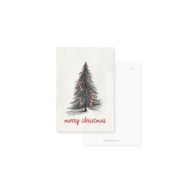 hip kerst cadeaulabeltje  kerstboom