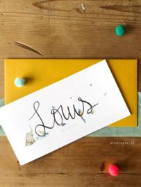 Geboortekaartje Louis!  Vrolijke jungle kaartje