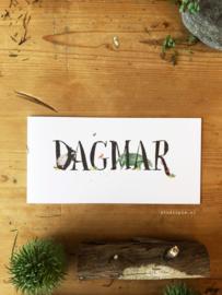 Geboortekaartje Dagmar! Zomers bosdieren