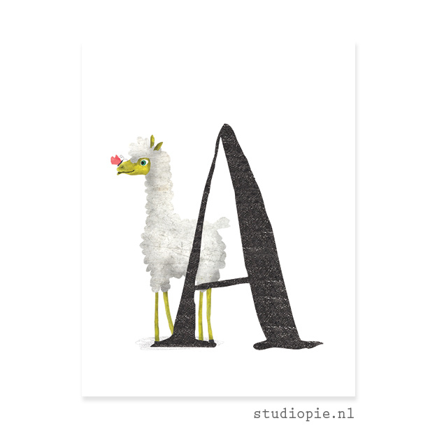 de A van ALPACA | letterkaartje