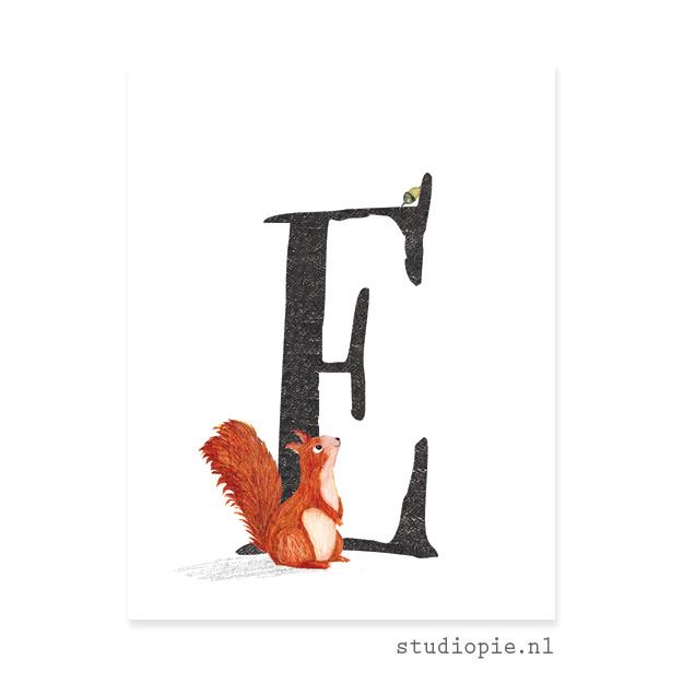de E van EEKHOORN | letterkaartje