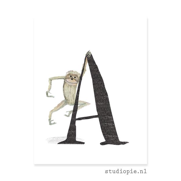 de A van AAP   letterkaartje