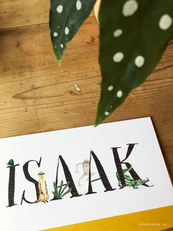 Geboortekaartje Isaak!