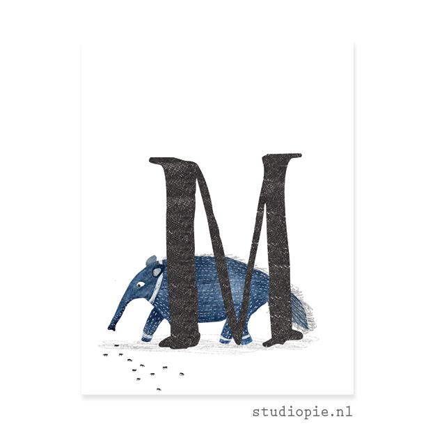 de M van MIEREN(ETER)   letterkaartje